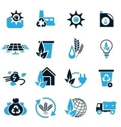 Alternative energy icons vector image