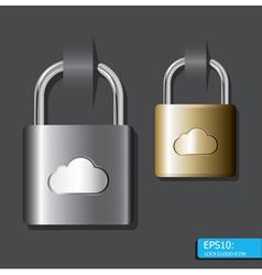 lock cloud icon vector image vector image