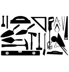 masonry tools vector image vector image