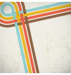 retro back stripes vector image