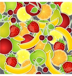 Set of fruits vector image