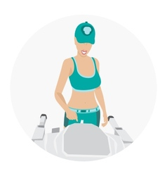Sport woman - fitness vector image