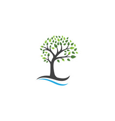 tree logo template vector image vector image