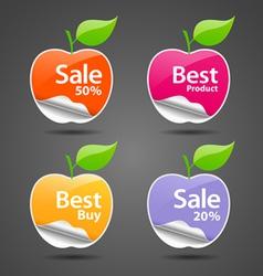 apple sale price tag vector image