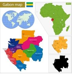 Gabon map vector