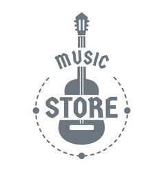 music store logo simple style vector image vector image
