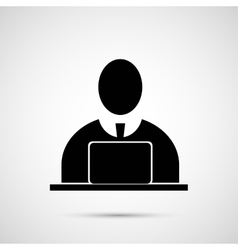 People design Man at the computer icon vector image