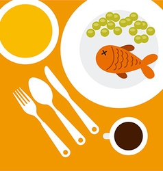 restaurant menu vector image