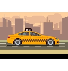 Taxi car flat vector image