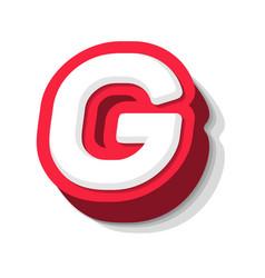 3d bold funny letter g heavy type for modern vector