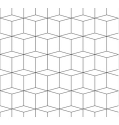 3d cubes spatial seamlessly repeatable monochrome vector