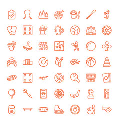 49 game icons vector image