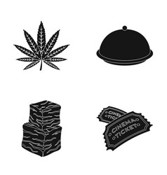 A hemp sheet a bowl with a lid and other web icon vector