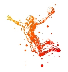 Abstract basketball player in jump vector