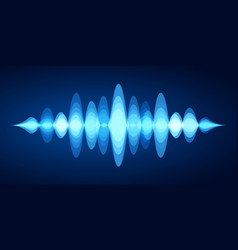 abstract sound wave blue voice sounds waveform vector image