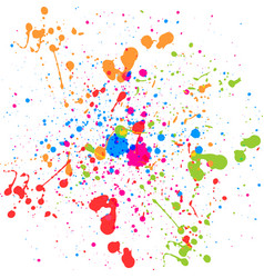 Abstract splatter multi color background vector