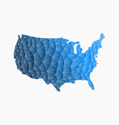 america triangle network map logo vector image