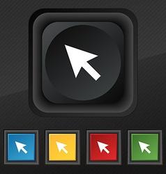 arrow cursor computer mouse icon symbol Set of vector image