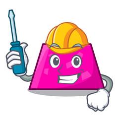 Automotive trapezoid mascot cartoon style vector