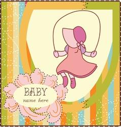 Baby Girl Invitation Card vector image