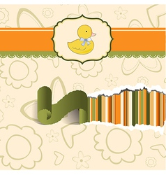 baby shower card with little duck vector image