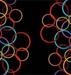 Background with colorful circles vector