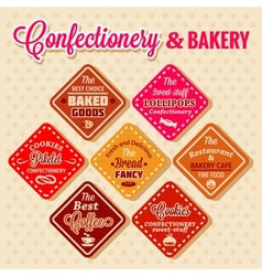 Bakery design elements vector