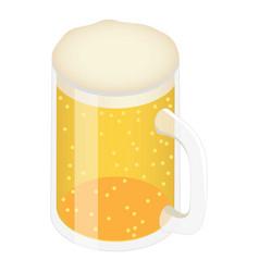 beer mug icon isometric style vector image