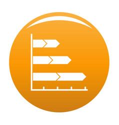 best graph icon orange vector image