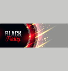 Black friday stylish banner design vector