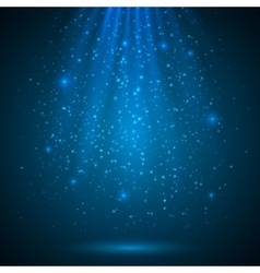Blue shining magic light background vector image
