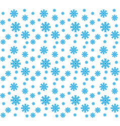 blue snowflakes seamless pattern and vector image