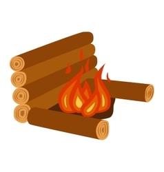 Bonfire isolated vector