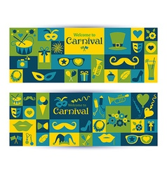 Bright carnival banners vector