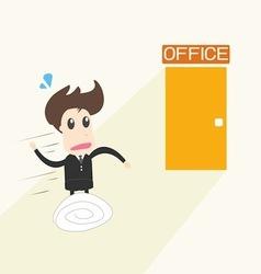businessman in rush vector image