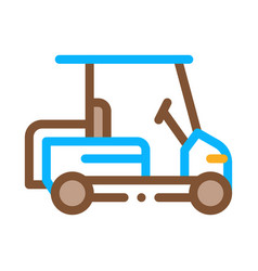 caddy golf car icon outline vector image