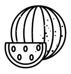 cartoon image of watermelon icon summer symbol vector image
