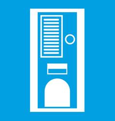 Coffee vending machine icon white vector