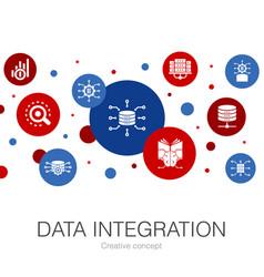 Data integration trendy circle template vector