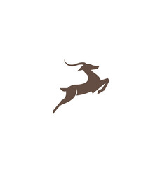 deer run and jump logo design vector image