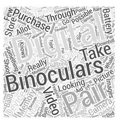 Digital Binoculars Taking Videos Word Cloud vector