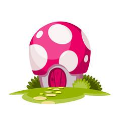 fairytale house cartoon house in shape vector image