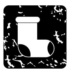 Felt boot icon grunge style vector
