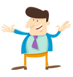 funny man or businessman cartoon character vector image