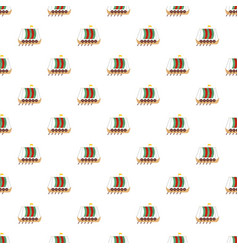 galleon pattern seamless vector image