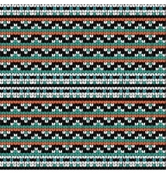 Geometric knitting seamless pattern vector image