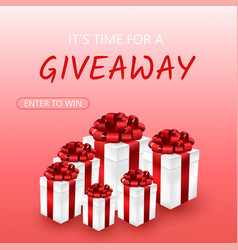 Giveaway for promo vector