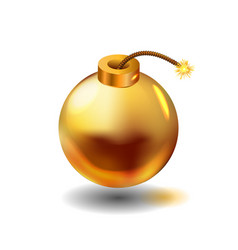 gold bomb vector image
