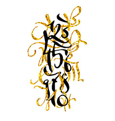 Golden hand drawn high quality calligraphy poster vector