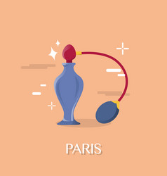Great perfume in paris franch design vector